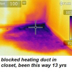 NIR Home Inspections blocked heating duct